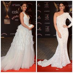 #hiporskip Who rocked the all white look at the Stardust 2015?  Tell us which look you found Hip, and Skip the one you didn't.  #jacquelinef143 (left) #kritisanon (right)  #redcarpet #stardust #celebstyle #celebrity #gowns #white #instafashion #hippily #livehippily #hippilyeverafter