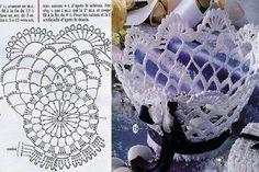 Interesting ideas for decor: Вазы из салфеток Crochet Vase, Love Crochet, Crochet Gifts, Crochet Doilies, Lace Patterns, Crochet Patterns, Yarn Crafts, Diy And Crafts, Crochet Basket Tutorial