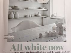Quite like the idea of a white painted dining table especially if grey slate/stone floor