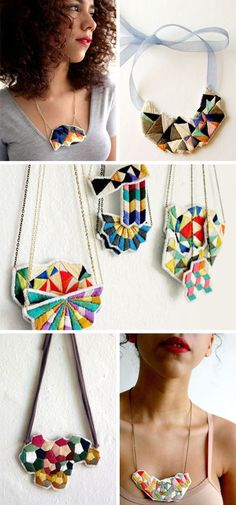Spinthread Etsy Embroidery Color Colour Colorful Colourful Bright Craft Handmade Jewellery Jewelry geometric bright kaleidoscope fashion style design inspiration wolf and willow blog pretty shop love necklace cuff earrings
