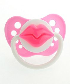 Another great find on #zulily! Pink Lips Pacifier by Crystal Dream #zulilyfinds