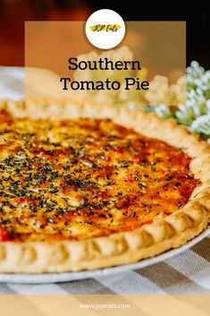 Vegetable Dishes, Vegetable Recipes, Southern Tomato Pie, Fresh Tomato Recipes, Great Recipes, Favorite Recipes, Vegan, Pie Crusts, Southern Recipes