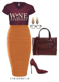 A fashion look from January 2016 featuring Boohoo skirts, Casadei pumps and Lancel handbags. Browse and shop related looks. Fashion Casual, Look Fashion, Casual Chic, Autumn Fashion, Fashion Women, Casual Fridays, Cheap Fashion, Fashion Beauty, Classy Outfits