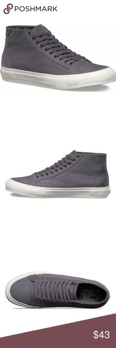 newest c1406 3ba0a Vans Court Mid Canvas Tornados  The new Canvas Court Mid, a mid-top  silhouette inspired by the clean, simple lines of 70s tennis and basketball  shoes, ...