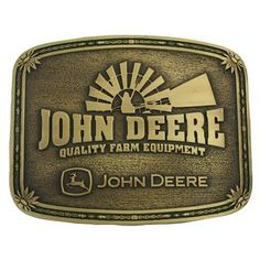 Montana Silversmiths Square John Deere Attitude Belt Buckle