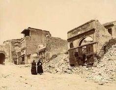 1894'te İstanbul'da yaşanan deprem sonrası sokakta hayat