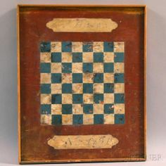 Paint-decorated Checkers Game Board | Sale Number 2712M, Lot Number 1127 | Skinner Auctioneers