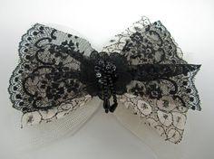 Victorian Lace Hair Bow by Bridget Blue by BridgetBlue on Etsy, $24.00