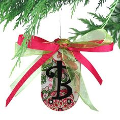 $8 Deck the Halls with our adorable Designer monogrammed acrylic and ribbon Christmas Ornaments. - See more at: http://www.morgan-company.com/product.cfm?p=3520&c=55&page=designer-acrylic-christmas-ornament#sthash.SnKgCrdb.dpuf