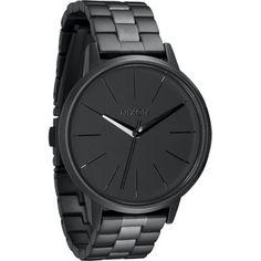 Nixon horloges The Kensington in Matte black matte gunmetal