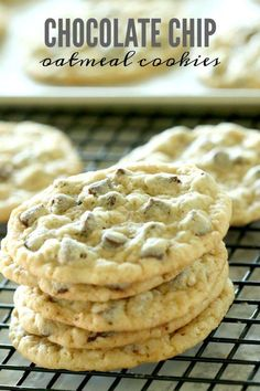 Heather saved to Chip Oatmeal Cookies! The Best Oatmeal Chocolate Chip Cookie Recipe for an easy kid-friendly dessert, after school snack, or holiday treat…More Oatmeal Chocolate Chip Cookie Recipe, Choco Chips, Oatmeal Chocolate Chip Cookies, Oatmeal Recipes, Cookie Recipes For Kids, Baking Recipes, Dessert Recipes, Desserts, Snacks Recipes