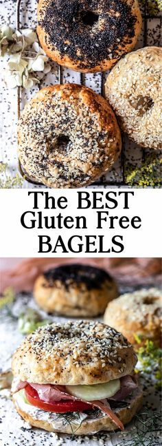 These Gluten-Free Bagels are extra chewy, simple, savory, tender and so delicious. Plus they are easy to digest and low FODMAP | #glutenfree #lowfodmap #bagels #glutenfreebagels Gluten Free Bagels, Gluten Free Baking, Gluten Free Recipes, Lunch Recipes, Easy Dinner Recipes, Real Food Recipes, Breakfast Recipes, Homemade Bagels, Gluten Free Breakfasts
