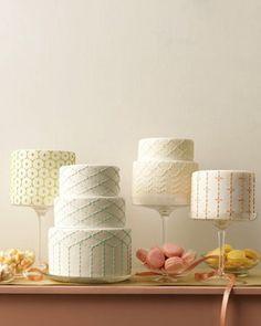 embroidery wedding cake #weddingcake #wedding