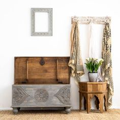 Handcrafted from sustainable mango wood. Coffee Table Nz, Coffee Table With Drawers, Moroccan Bedroom, Moroccan Decor, Blue Bedside Tables, Mandala Blanket, Low Sideboard, Art Deco Mirror, Arabian Nights