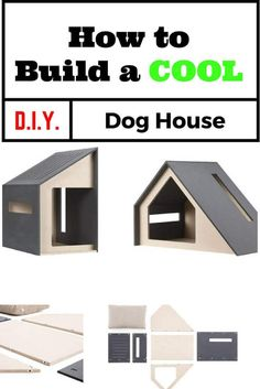 I bet you will fall in love with this cool diy dog house pic