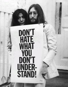 John Lennon and Yoko Ono.                                                                                                                                                                                 More