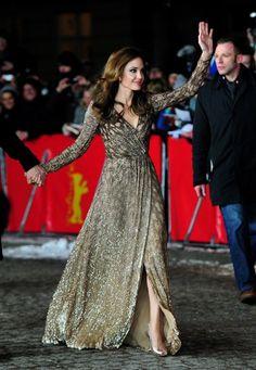 Angelina Joli's dress at the Blood & Honey Premier