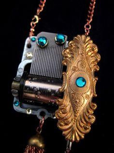 Little wing tiny music box locket by clockworkfantastica on etsy music box necklace aloadofball Images