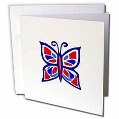 Deniska Designs Butterfly - Red White n Blue Butterfly - Greeting Cards-12 Greeting Cards with envelopes by 3dRose. $15.95. Red White n Blue Butterfly Greeting Card is measuring 5.5w x 5.5h. Greeting Cards are sold in sets of 6 or 12. Give these fun cards to your friends and family as gift cards, thank you notes, invitations or for any other occasion. Greeting Cards are blank inside and come with white envelopes.