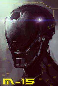 Cyberpunk, Android, Future, Helmet, Robot, Futuristic, Sci-Fi, Military by Tonatiuh Ocampo