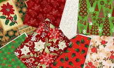 2 Yards quality 100% cotton fabric.More than 1 will be continuous cut yardage.Christmas Traditions fabric medley features 8 holiday inspired fat quarters for a total of 2 yards. Medleys vary slightly but all are a traditional Christmas mix featuri...