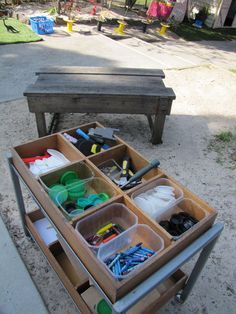 let the children play: outdoor storage solutions for loose parts in the playground