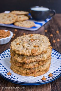 Crispy edges and chewy centers make these Cinnamon Banana Oatmeal Cookies a fun treat to fill the cookie jar with. Great snack to enjoy after school.