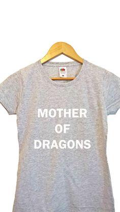4d96763f mother of dragons t shirt dragons shirt dragons top by IrekApparel Slogan  Tshirt, Cat Lover
