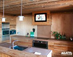 AGATH, In-wall TV for kitchen