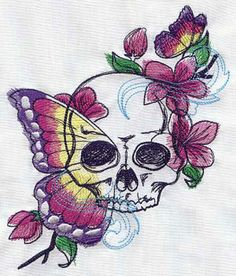 Painted Vanitas | Urban Threads: Unique and Awesome Embroidery Designs     I love this skull!