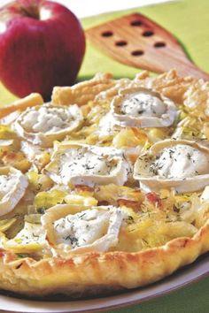 Receta Hojaldre de manzana y queso