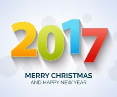 Happy New Year 2017 Free Vector Merry Christmas and Happy New Year
