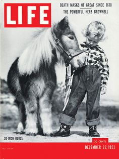Vintage Life cover with adorable horse and child.