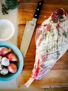 Preparing dinner in the kitchen
