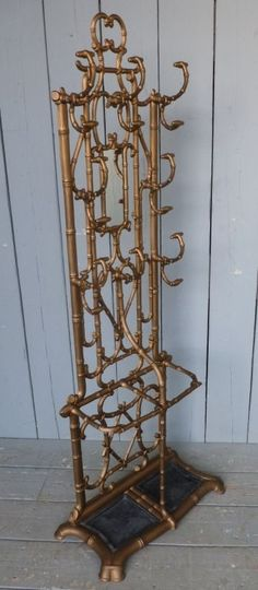 Faux Bamboo Godin Cast Iron Coat Hat and Stick Stand - Hall Stand