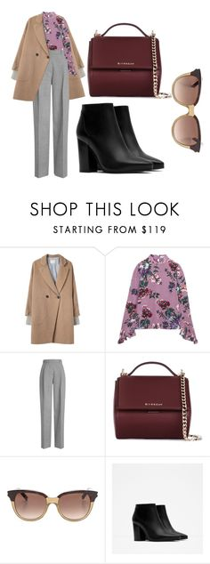 """""""street style!!! #17"""" by mdoraki ❤ liked on Polyvore featuring Band of Outsiders, Erdem, Victoria Beckham, Givenchy, Yves Saint Laurent and Zara"""