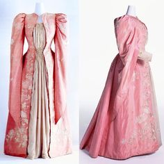 """Tea gown, made in Japan for the western market, ca. 1895 Kyoto Costume Institute """