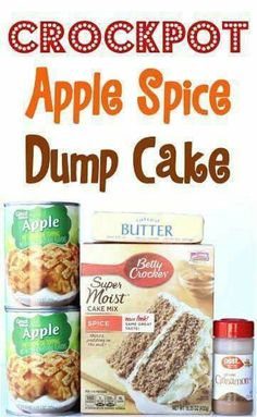 Crockpot apple  spice cake