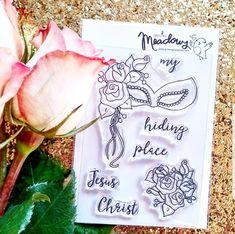 Growing Meadows Stamps for Bible Journaling! Hey, I found this really awesome Etsy listing at https://www.etsy.com/listing/558917666/my-hiding-place-mini-stamps-christian