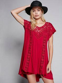 Frida Aasen || FP X Caraway Flowy Mini Dress (Raspberry)