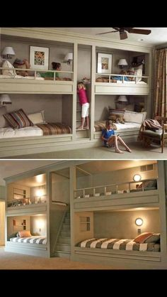 So great for man cave or guests with double beds on bottom and twins on top! Also perfect for sleepovers!!