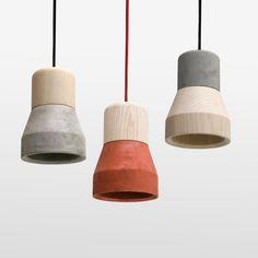 Cement Wood Pendant Light