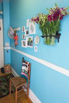 Mavi renk koridor