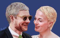 Martin and Amanda artwork by Primula87 @primula87_tmblr