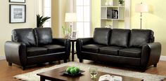 Hatton Black Love Seat Collection CM6321BK-LVDescription :Casual and comfortable, this three piece contemporary leatherette living group features a full sofa, love seat, and chair. Available in 2 colorsFeatures :Contemporary StylePlush CushionsLeatheretteAvailable In 2 ColorsDimensions :Loveseat : 56 1/4