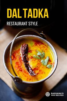 Here 2 versions of Dal Tadka: Restaurant Style Dal Tadka – made on Stovetop with an optional smoking method and Home Style Dal Tadka – made in the Instant Pot. Both the recipes are easy and give super delicious results! Lentil Recipes, Veg Recipes, Curry Recipes, Vegetarian Recipes, Cooking Recipes, Vegetarian Curry, Cooking Dishes, Flour Recipes, Indian Cuisine