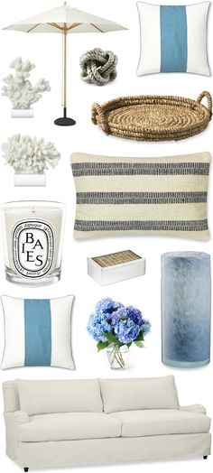 CHIC COASTAL LIVING: BEACH CHIC // WILLIAMS SONOMA HOME