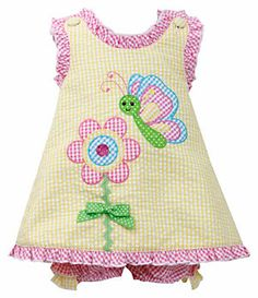 Bonnie Baby 12-24 Months Ruffle-Trimmed Appliqued Dress & Panty Set | Dillard's Mobile