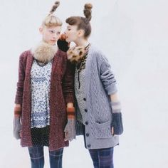 Loving the layered, colorful mixed knit looks from the November Fudge magazine