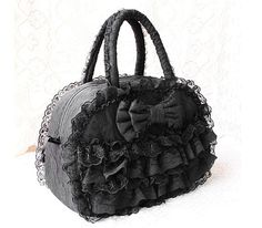Lolli Goth Purse Gothic Fashion Outfits Lace Bag Bow